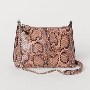 H&M Snake Print Snakeskin Bag with Gold Chain